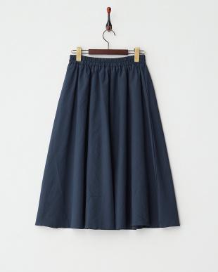 NAVY  ミディ丈タフタスカート見る