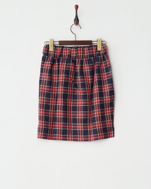 NAVY  チェックタイトスカート見る