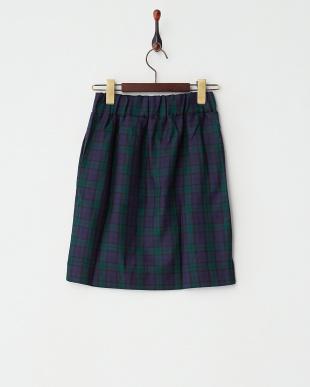 GREEN  チェックタイトスカート見る