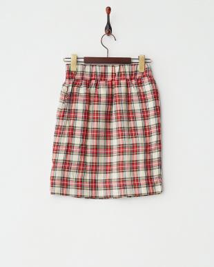OFF WHITE  チェックタイトスカート見る