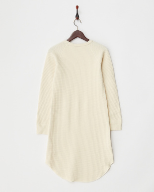 WHITE  WOOL THERMAL ONE PIECE見る