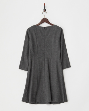 CHARCOAL  BOAT NECK TUCK ONE PIECE見る