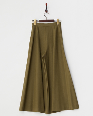 KHAKI  WIDE FLARE EASY PANTS見る