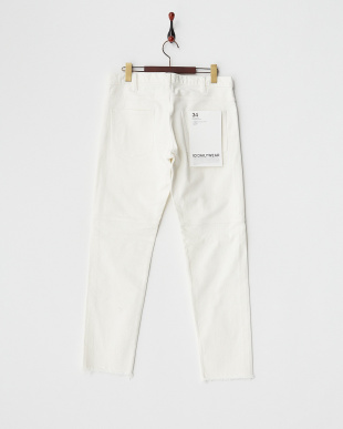 WHITE  14.5OZ DAMAGE SLIM STRAIGHT DENIM PTS見る