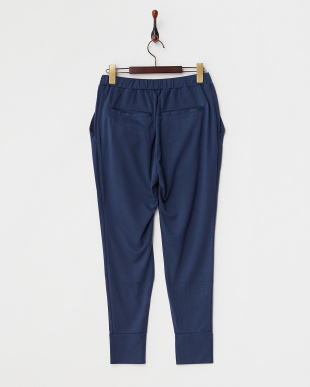 NAVY  PLAIN STICH PLATING RELAX SARROUEL PANTS見る