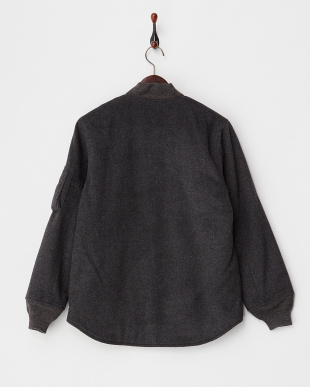 CHARCOAL CACHMERE BEAVER MA-1SHIRTS見る
