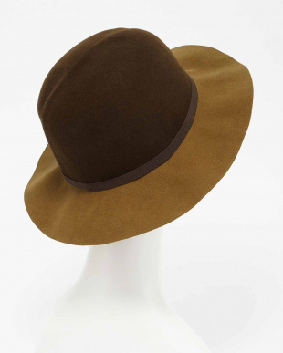 BROWN  2 TONE CRUSHABLE HAT見る
