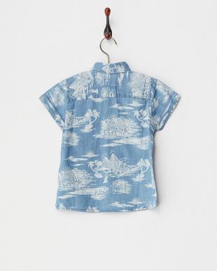 ブルー PYRAMID POINT SS BOY 半袖シャツ見る