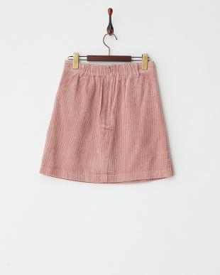 ピンク  太コール台形スカート見る