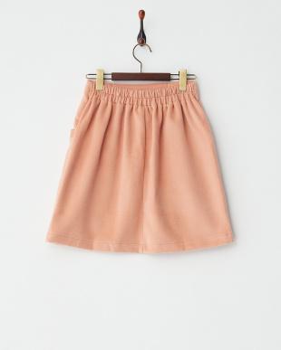 ピンク シャギー無地台形スカート見る