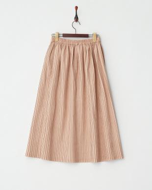 ピンク  フェイクスエードプリーツスカート見る
