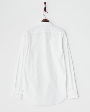 ホワイト 切り替え レギュラーカラーシャツ見る