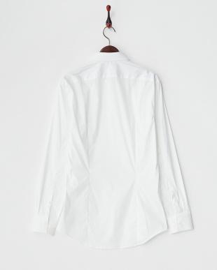 ホワイト  カッタウェイシャツ A見る