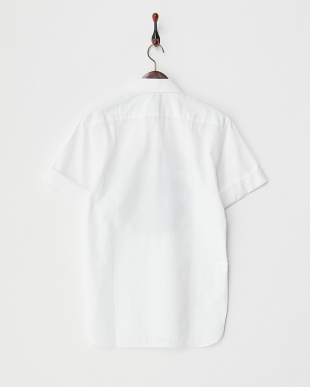ホワイト プリント半袖シャツ見る