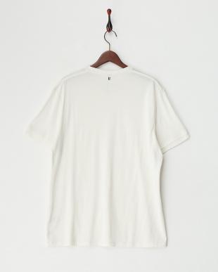 ホワイト シルク混クルーネックTシャツ見る