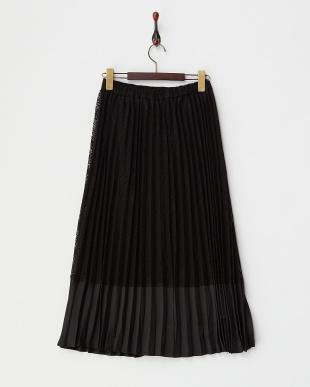 ブラック ダイヤレースプリーツスカート見る