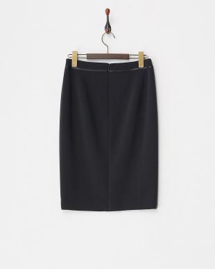 ネイビー サテンライン ストレッチタイトスカート見る