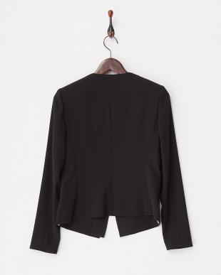 ブラック 重ね着風 羽織りジャケット見る