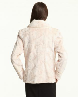 ライトピンク シェアードミンクピースジャケット見る