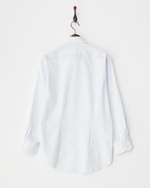ブルーチェック ボタンダウンワイシャツ見る
