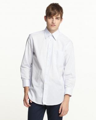 ブルーストライプ レギュラーカラーワイシャツ見る
