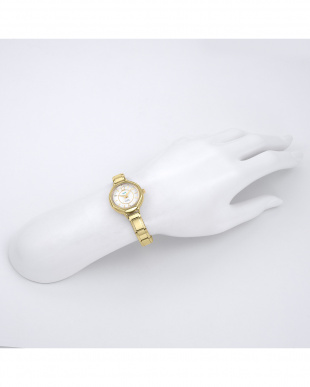 ゴールド  MEXICO メタルベルト腕時計見る