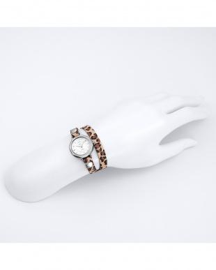 レオパード  MEXICO レザーベルト腕時計見る