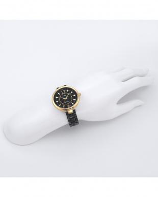 ブラック MEXICO アセテートベルト腕時計見る