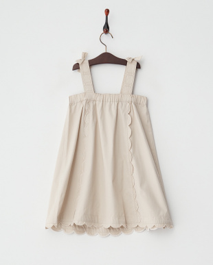 ベージュ  Scallop Line ジャンパースカート見る