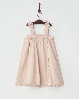 ピンク  Scallop Line ジャンパースカート見る