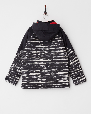 True Black Sloppy Stripe/True Black Boys' Amped Jacket見る