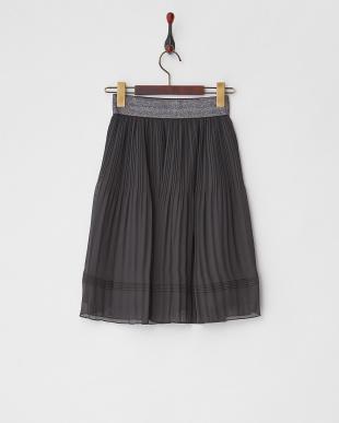 ブラック  ラメゴムシフォンスカート見る