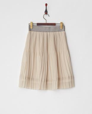ベージュ  ラメゴムシフォンスカート見る