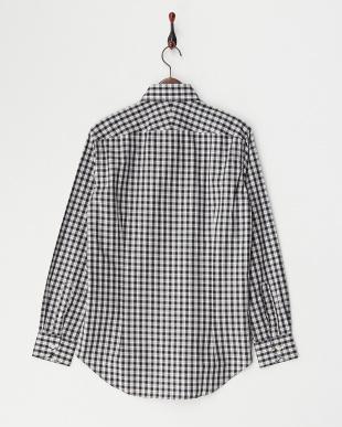 BLK  チェックワイドカラードレスシャツ WH見る