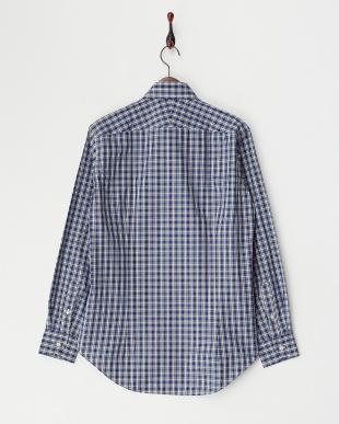 BLU  チェックワイドカラードレスシャツ WH見る