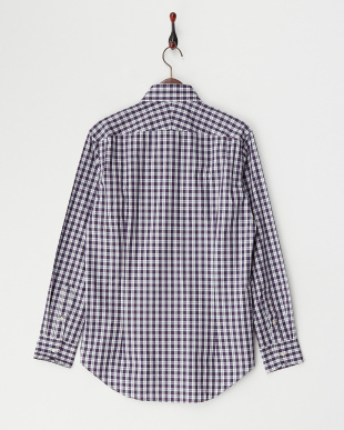 NVY  チェックワイドカラードレスシャツ WH見る