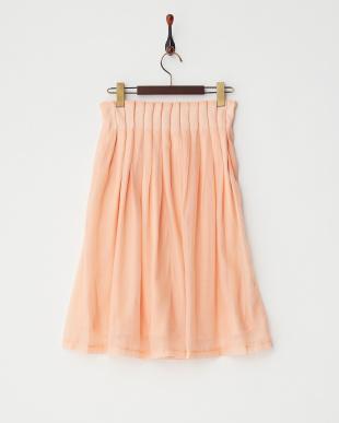 オレンジウエストタックギャザースカート見る