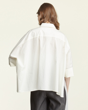 ホワイト  タイプライターwool mix ワイドシャツ見る