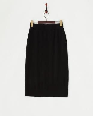 ブラック  フロントリブタイトスカート見る