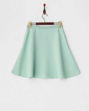 グリーン ジャガードフレアスカート見る