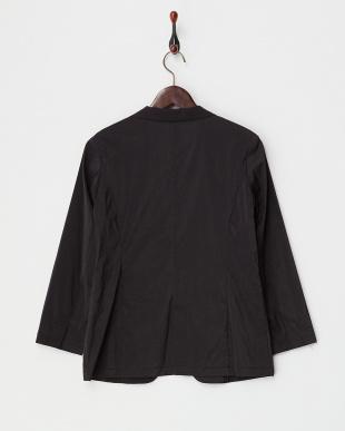 ブラック  綿ナイロンストレッチ シャツジャケット見る