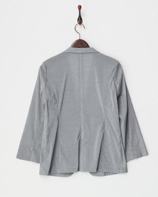 グレー  綿ナイロンストレッチ シャツジャケット見る