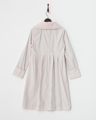 ピンク  中綿衿ロングコート見る