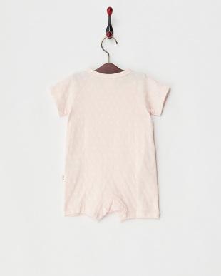 ピンク×オフホワイト スター接結ロンパース|Baby見る