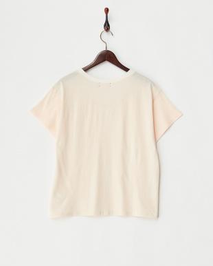 ピンク  シースルーワッフルTシャツ見る