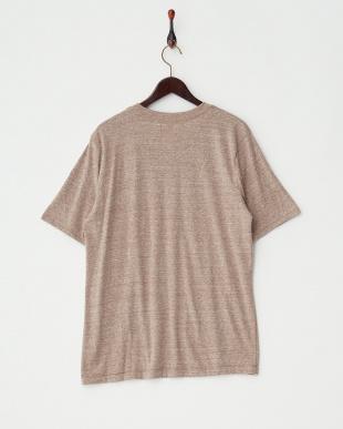 ブラウン スノーマンプリントTシャツ|MEN見る