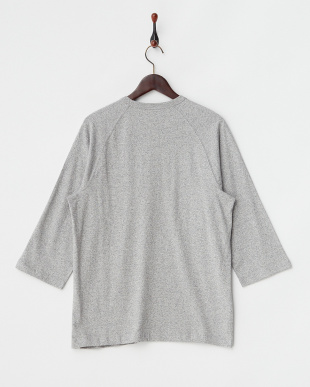 ヘザーグレー 88/12クルーネック クォータースリーブTシャツ見る