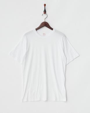 ヘザーグレー×ホワイト  2Pパック クルーネックTシャツ見る