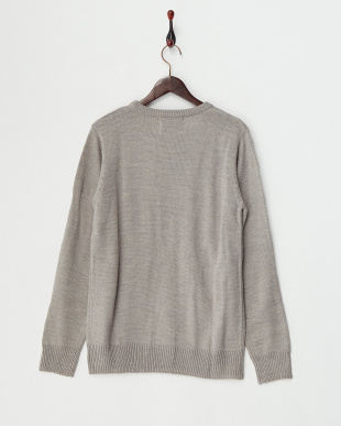 グレー  クルーネックセーター見る