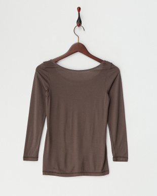チャコールグレー  吸湿発熱 保湿機能 8分袖シャツ見る